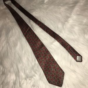 Stafford Red Tie with Design